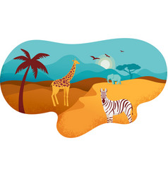 africa banner of safari vector image