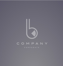 Alphabet small letter b transparent logo design vector image