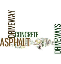 Asphalt versus concrete driveways which is best vector
