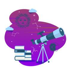 Astronomy telescope space vector