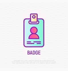badge thin line icon modern vector image