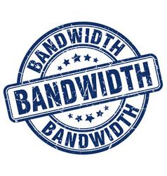 Bandwidth blue grunge stamp vector