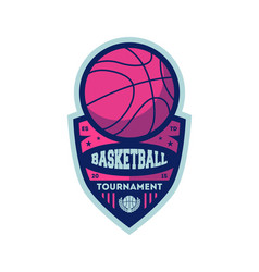 basketball championship vintage isolated label vector image