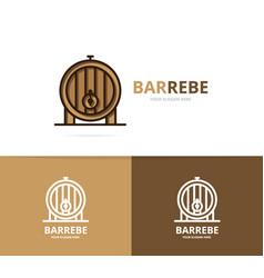 Beer or wine barrel logo design template vector