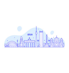Berlin skyline germany city buildings vector