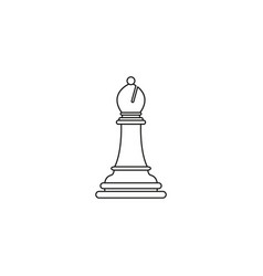 bishop of chess icon the toy success vector image