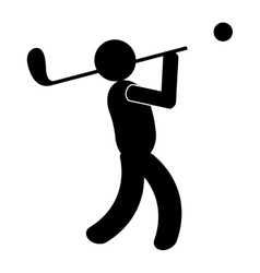 Black avatar an playing golf graphic vector