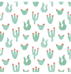 botanical seamless pattern with hand drawn green vector image