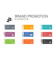 brand promotion infographic 10 option line concept vector image