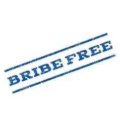 Bribe Free Watermark Stamp vector image