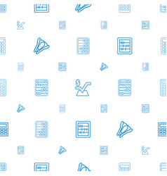 calculator icons pattern seamless white background vector image