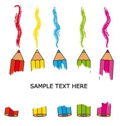 Card crayons vector
