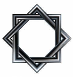 Celtic star design pattern vector