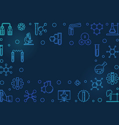 chemistry blue horizontal outline vector image