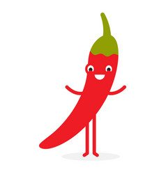 chili cute vegetable character vector image
