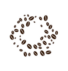 coffee bean icon vector image