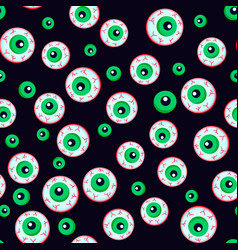 creepy bloody zombie eyes halloween seamless vector image