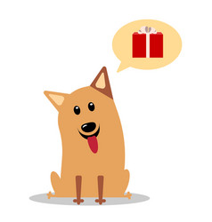 Cute cheerful cartoon dog vector