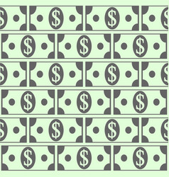 dollar icons seamless pattern vector image