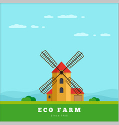 eco farm concept vector image