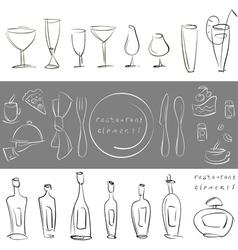 elements for design restaurant menu vector image