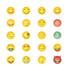 Emoticons Collection Set of Emoji Different vector image