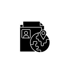 Ethnic origin privacy black glyph icon vector