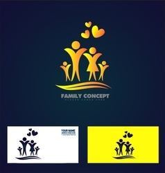 Family member logo icon vector
