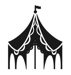 Festival tent icon simple style vector