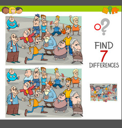 Find differences game with people characters vector