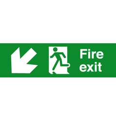 Fire Exit Safety sign vector image