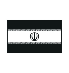 flag of Iran monochrome on white background vector image