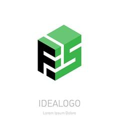 Fs initial logo initial monogram logotype f5 vector