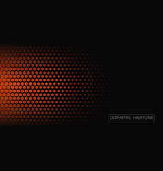 geometric halftone background vector image