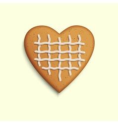 Gingerbread heart vector image vector image