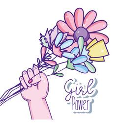 girl power cartoons vector image