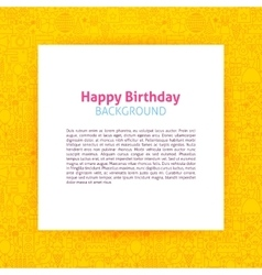 Happy Birthday Paper Template vector image