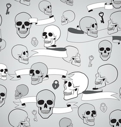 Human skulls seamless pattern vector