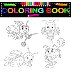 insect coloring book vector image