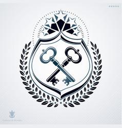 luxury heraldic template vintage blazon vector image