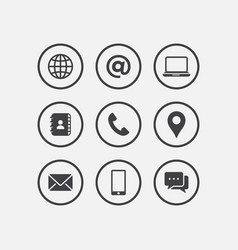 media and communication icon set mobile icon tel vector image