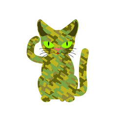 military cat wool khaki protective texture army vector image