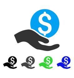 Money donation flat icon vector