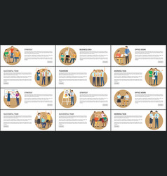 office work strategy business vector image