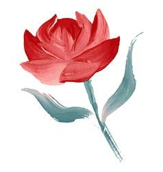 Oil painted flower vector