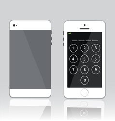 password on white phone vector image