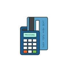 Payment by credit card through the terminal vector