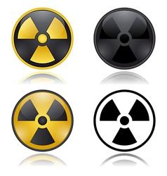 Radioactivity warning signs vector