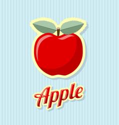Retro apple on striped background vector