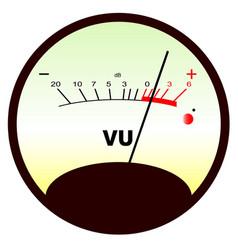 Round vu meter vector